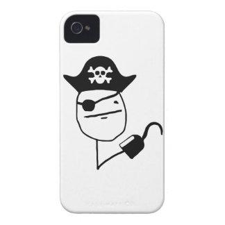 Cara de póker del pirata - meme iPhone 4 Case-Mate coberturas