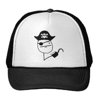 Cara de póker del pirata - meme gorros bordados