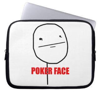 Cara de póker - manga del ordenador portátil mangas computadora