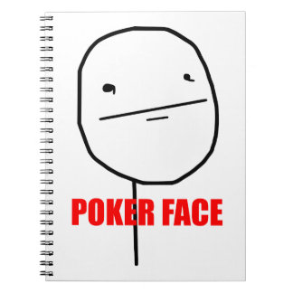Cara de póker Meme Spiral Notebook