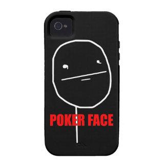 Cara de póker Meme Vibe iPhone 4 Funda