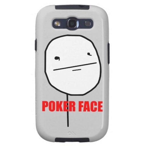 Cara de póker Meme Galaxy S3 Fundas