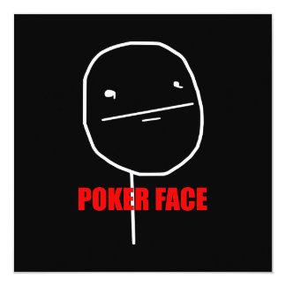 """Cara de póker Meme Invitación 5.25"""" X 5.25"""""""