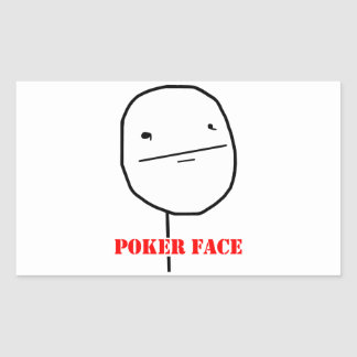Cara de póker - meme rectangular altavoz