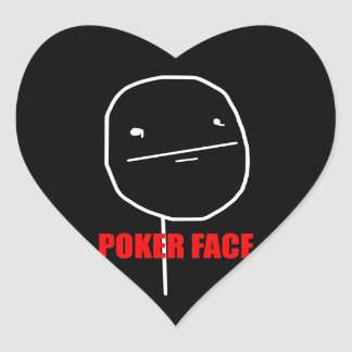 Cara de póker - pegatinas negros del corazón pegatina en forma de corazón