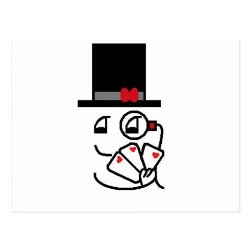 Cara de póker postales