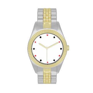 Cara de póker relojes de pulsera