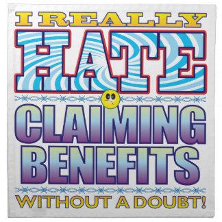 Cara de reivindicación del odio de las ventajas servilletas