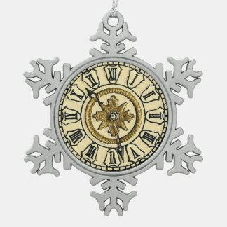 Cara de reloj cortada con tintas Victorian Steampu