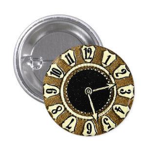 Cara de reloj cortada con tintas Victorian Steampu Pin