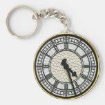 Cara de reloj de Big Ben Llavero