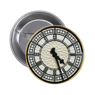 Cara de reloj de Big Ben Pin Redondo De 2 Pulgadas