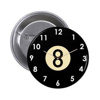 Cara de reloj de la bola de la piscina 8 pin redondo de 2 pulgadas
