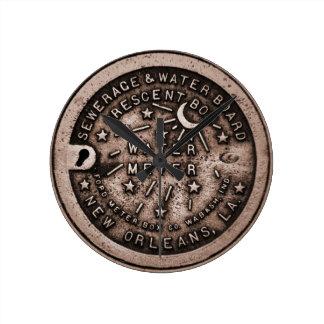 Cara de reloj de la cubierta del contador del agua