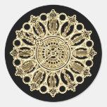 Cara de reloj de la suposición del Victorian de Pegatina Redonda