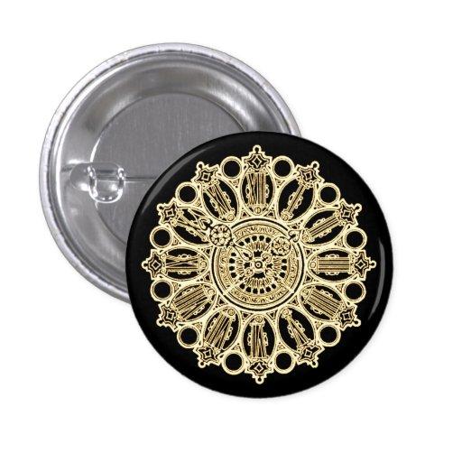 Cara de reloj de la suposición del Victorian de Pin Redondo De 1 Pulgada