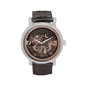 Cara de reloj de la tapa del contador del agua