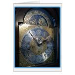 Cara de reloj de pie tarjetón