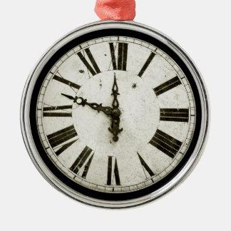 Cara de reloj adorno