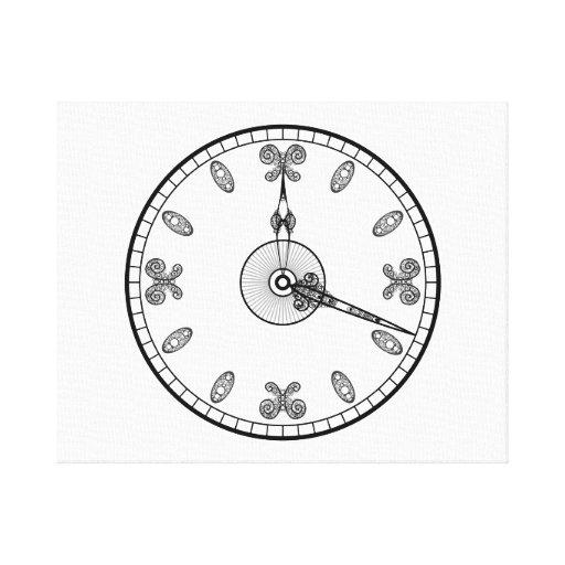 Cara de reloj impresiones en lona