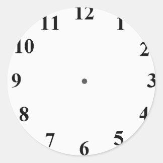 Cara de reloj pegatina redonda
