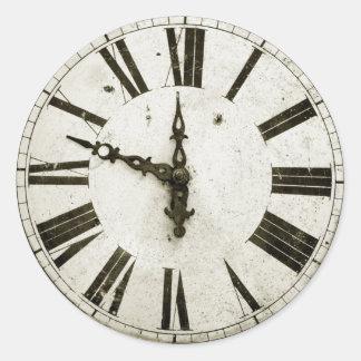 Cara de reloj etiquetas redondas