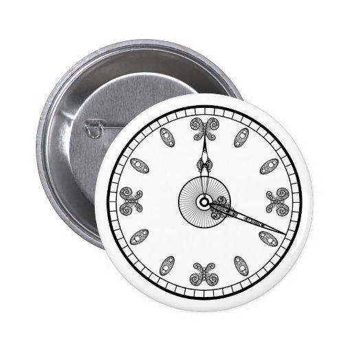 Cara de reloj pin redondo 5 cm