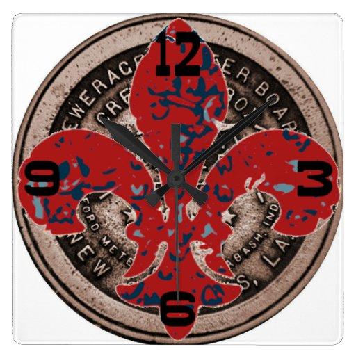 Cara de reloj roja de la cubierta del contador del