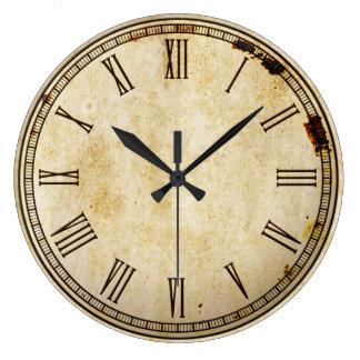 Cara de reloj rústica del número romano del vintag