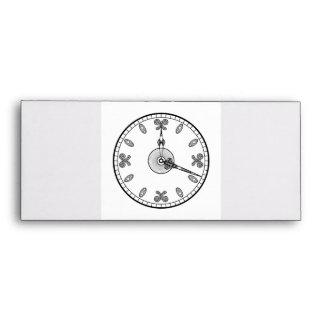 Cara de reloj sobres