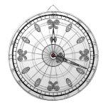 Cara de reloj tabla dardos