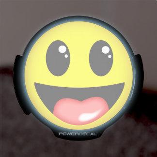 Cara de risa decal LED para ventana
