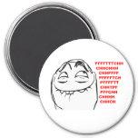 Cara de risa Meme cómico de la rabia de PFFTCH Imán De Frigorífico