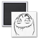 Cara de risa Meme cómico de la rabia de PFFTCH Imán Cuadrado