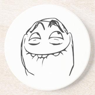Cara de risa Meme cómico de la rabia de PFFTCH Posavaso Para Bebida