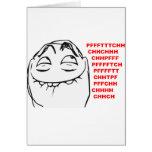 Cara de risa Meme cómico de la rabia de PFFTCH Felicitacion