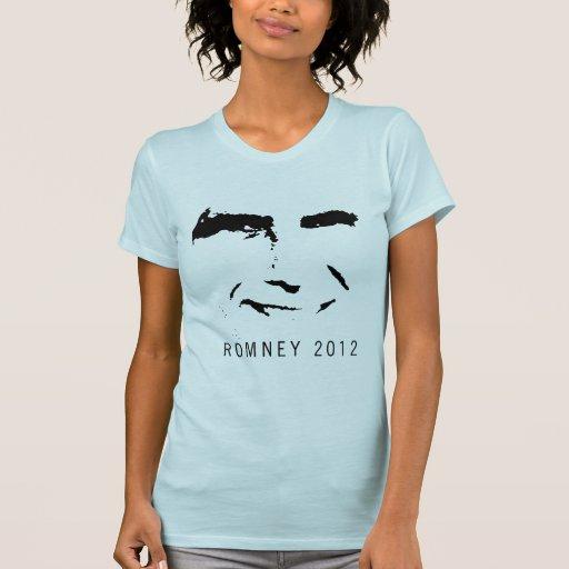 CARA de Romney 2012 Camisetas
