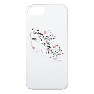 """Cara de s de las mujeres """" con las flores, funda iPhone 7"""
