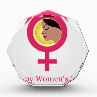 Cara de una mujer dentro de un símbolo femenino