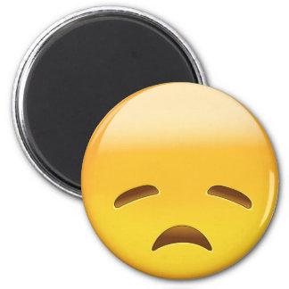 Cara decepcionada Emoji Imán Redondo 5 Cm