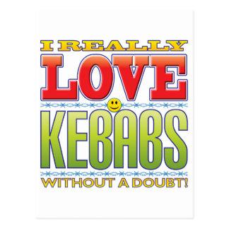 Cara del amor de Kebabs Postal