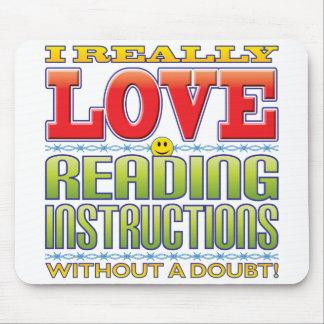 Cara del amor de las instrucciones de la lectura tapete de ratones