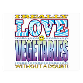 Cara del amor de las verduras tarjetas postales