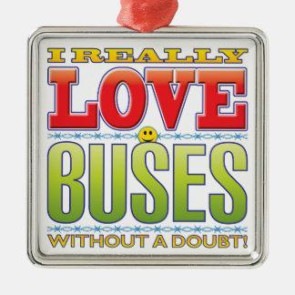 Cara del amor de los autobuses ornamentos para reyes magos