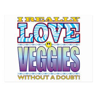 Cara del amor de los Veggies Tarjeta Postal