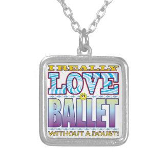 Cara del amor del ballet colgante cuadrado