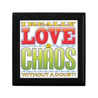 Cara del amor del caos caja de joyas