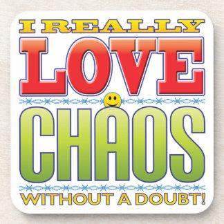Cara del amor del caos posavasos