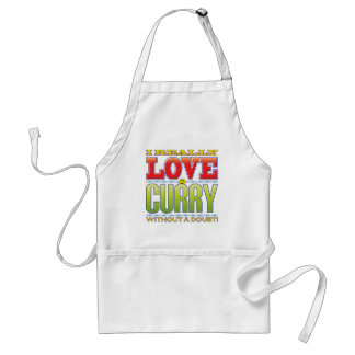 Cara del amor del curry delantal