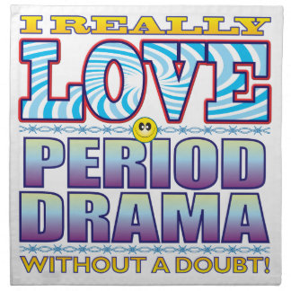 Cara del amor del drama de período servilleta de papel